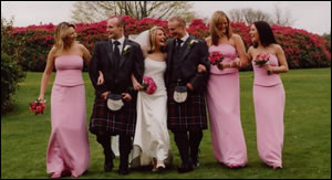 Wedding Party at Finlaystone House